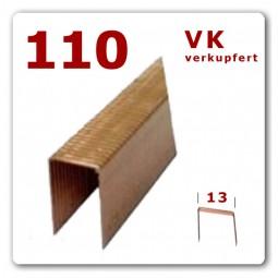 110/14 - 110/18 - 110/25 mm Flachdraht Heftklammern verkupfert
