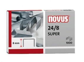 Heftklammern novus 24/8 SUPER | 1.000 Stück