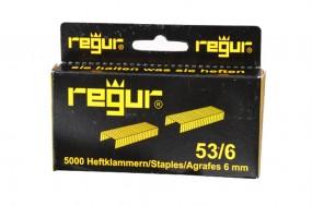 Heftklammern Regur 53/6 | 6 mm verzinkt | 5.000 Stück