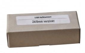 24/8 mm Heftklammern verzinkt - 5.000 Stück
