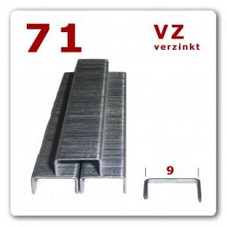 71/6 - 71/8 - 71/10 - 71/12 mm Heftklammern verzinkt