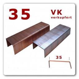 35/15 - 35/18 - 35/22 mm Karton Heftklammern verkupfert