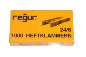 Regur 24/6 - 1.000 Heftklammern verkupfert