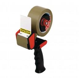 Tesa Packband-Handabroller Classic, schwarz/rot, bis B50xL60m