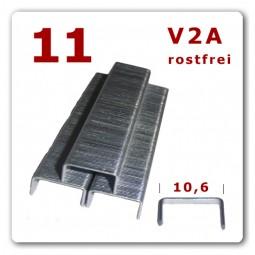 11 (140) | 8 - 12 mm | Edelstahl Heftklammern * 2.000 Stück