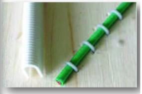 Kabel Heftklammern | Kunststoff | 1.000 Stück