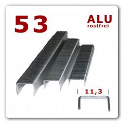 53/6 Aluminium Heftklammer rostfrei * 5.000 Stück