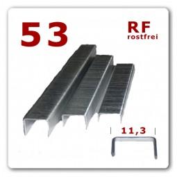 53/6 - 53/8 - 53/10 mm - rostfreie V2A Edelstahlklammern * 2.000 Stück